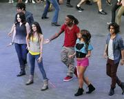 """Victoria Justice films a flash mob style scene of her music video """"All I want is Everything"""" September 16, 2011"""