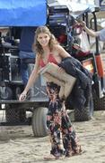 AnnaLynne McCord - set of 90210 in Huntington Beach 12/17/12